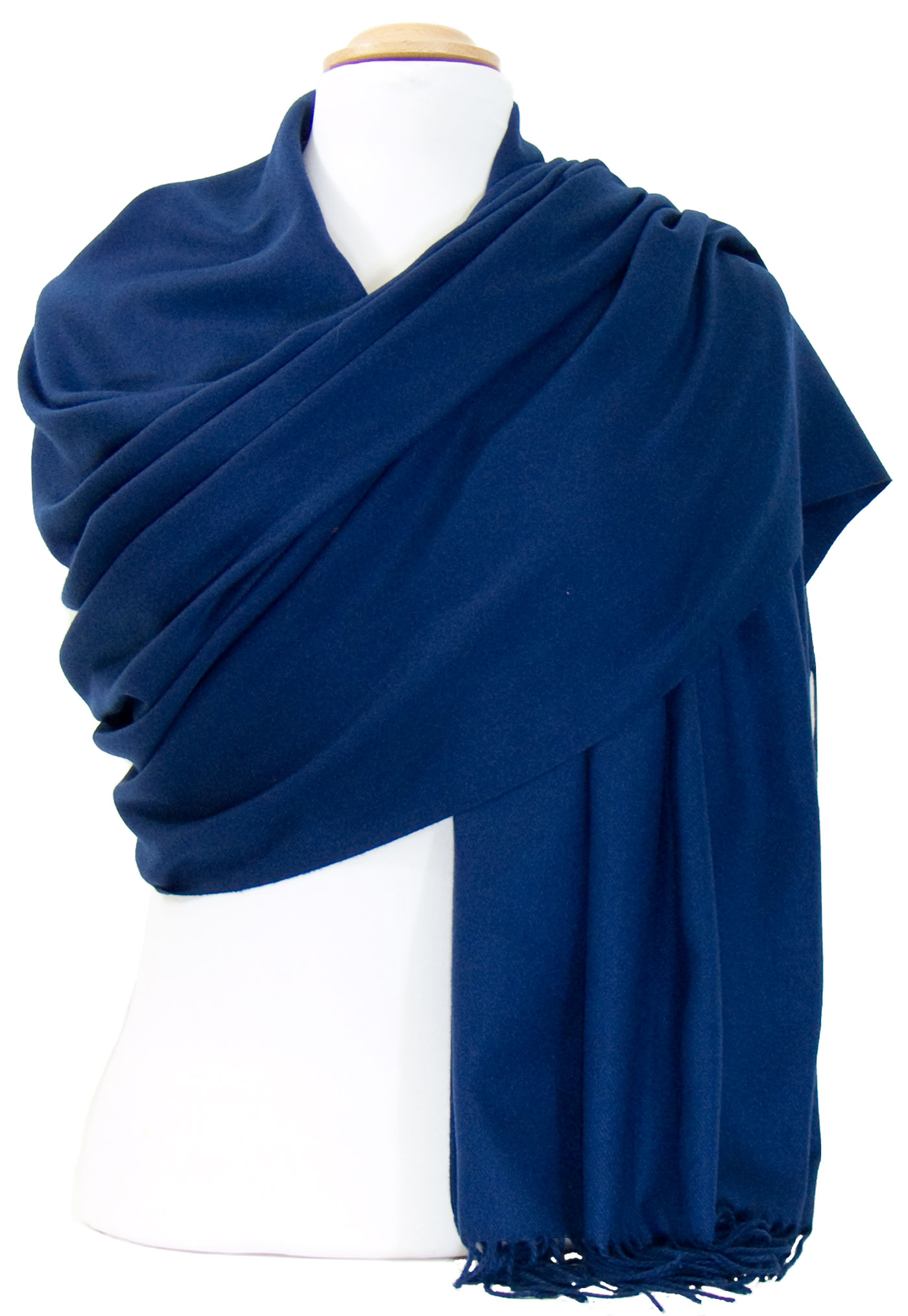 Etole cachemire laine bleu marine Charlie