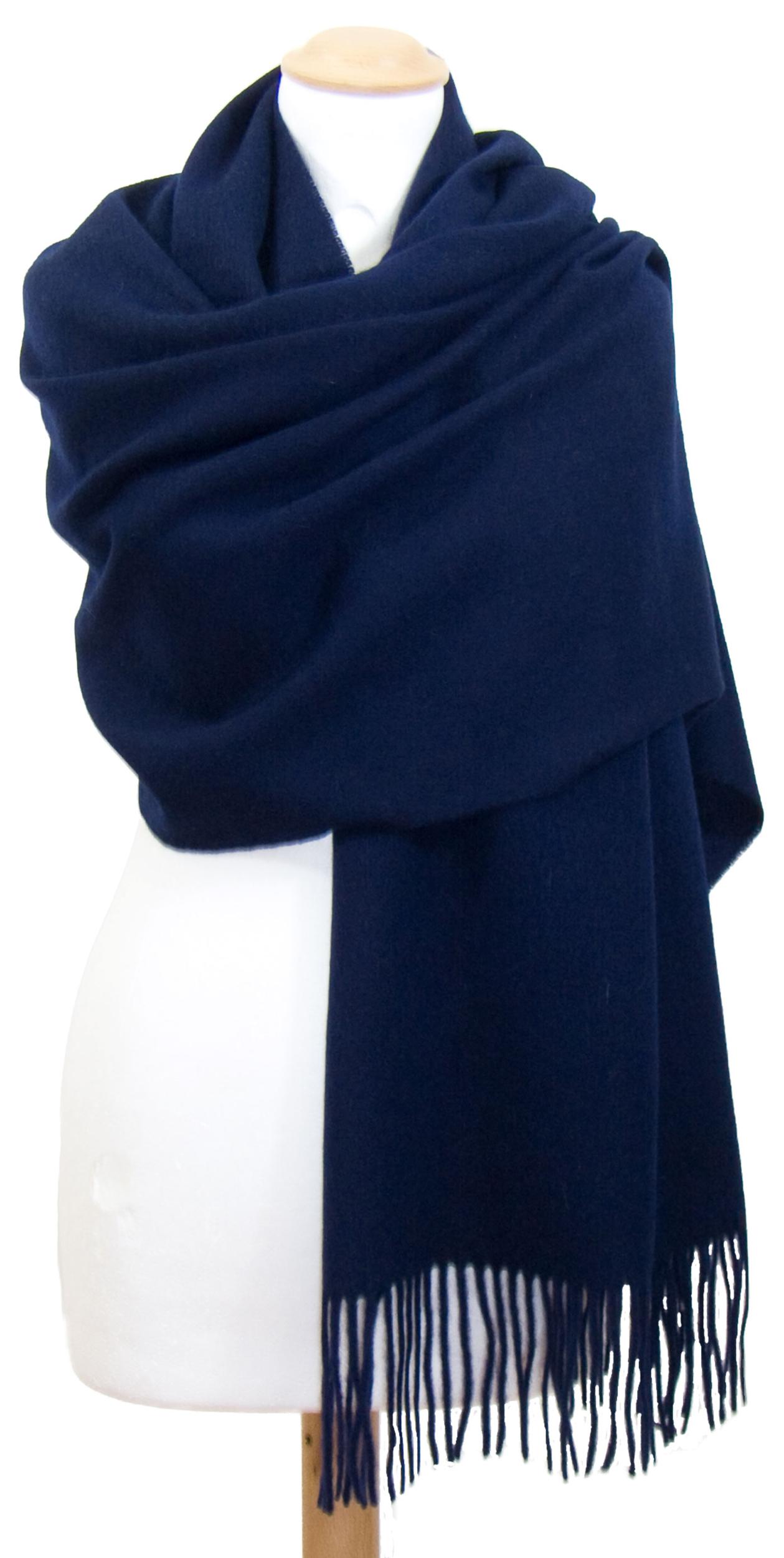 Etole bleu marine en laine premium