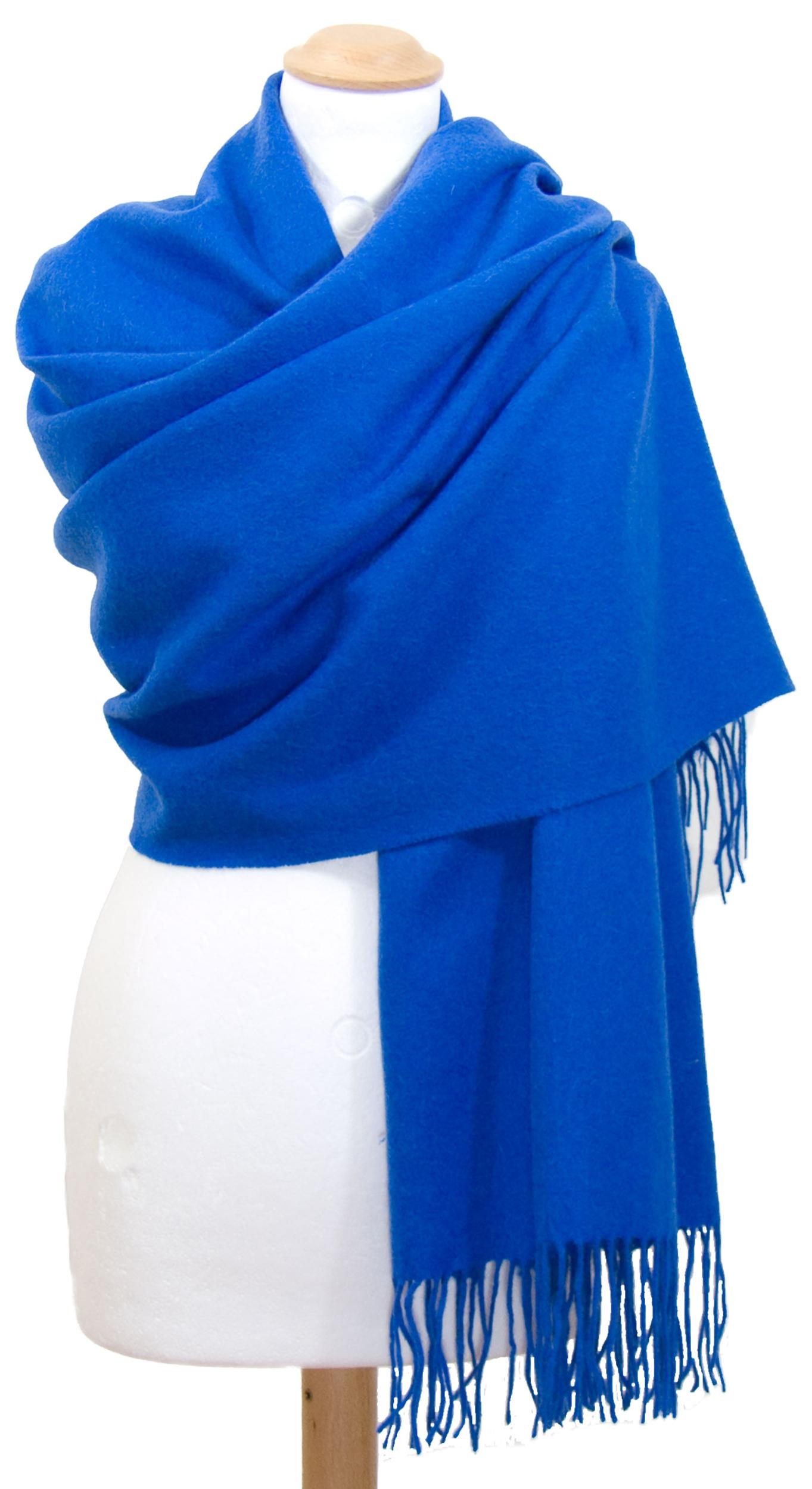 Etole bleu vif en laine premium