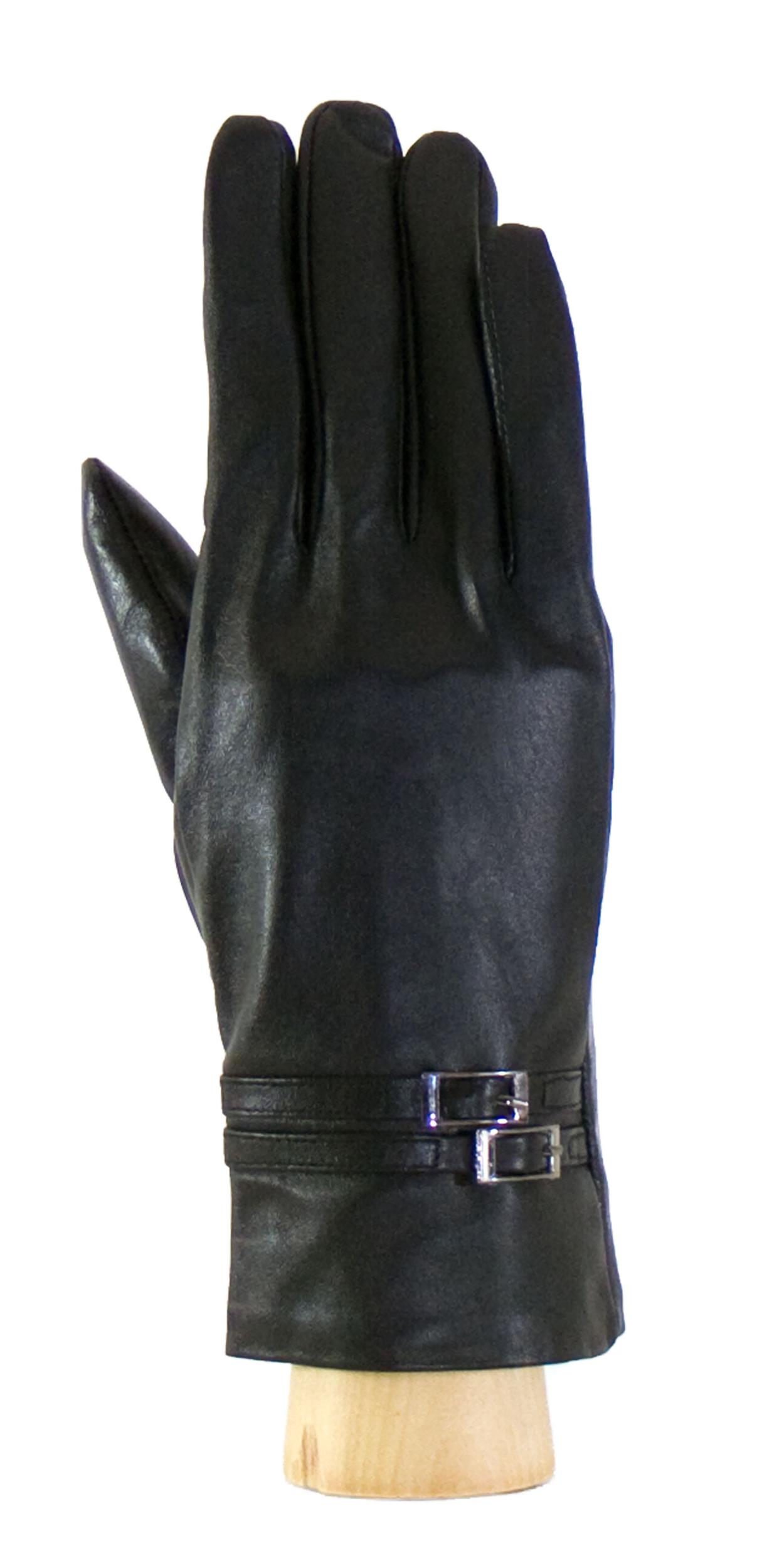 Gants cuir noir boucles femme taille 8