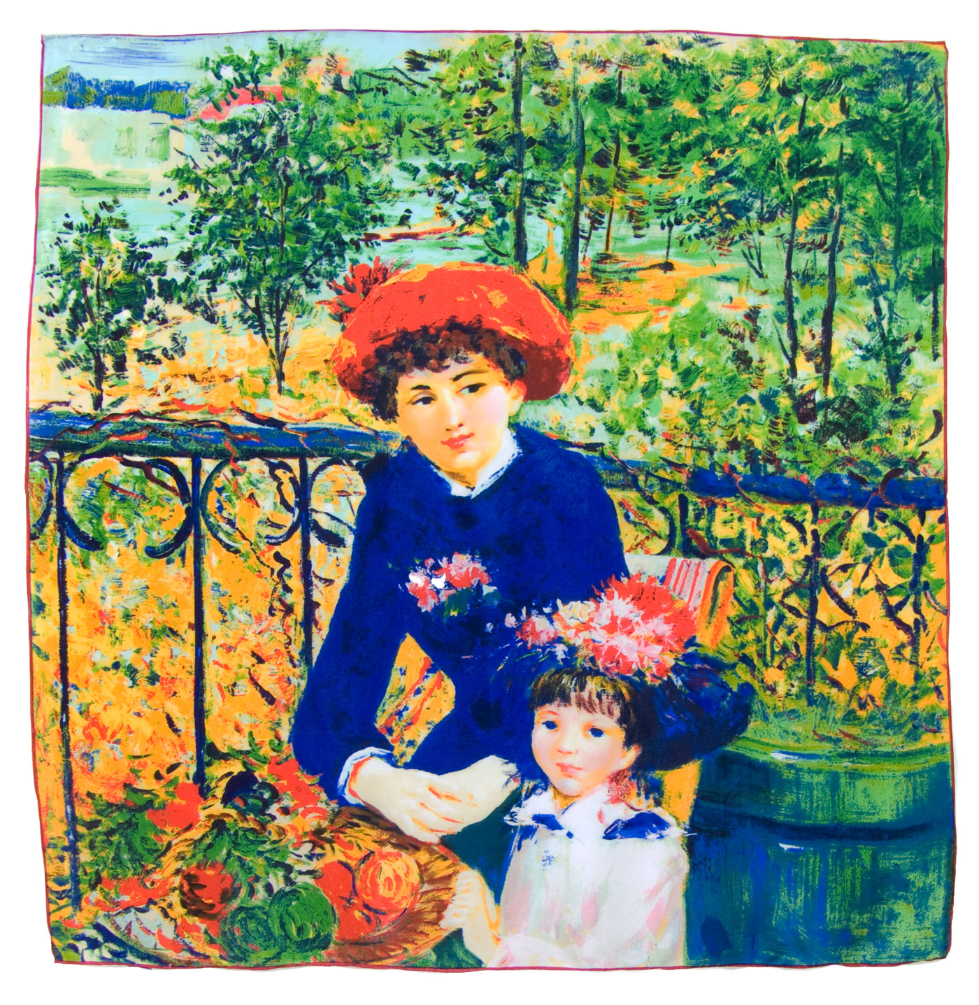 Carré en soie les deux sœurs Ausguste Renoir