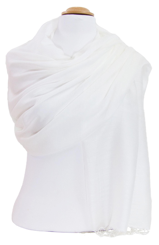 Etole foulard blanc soie viscose Alex