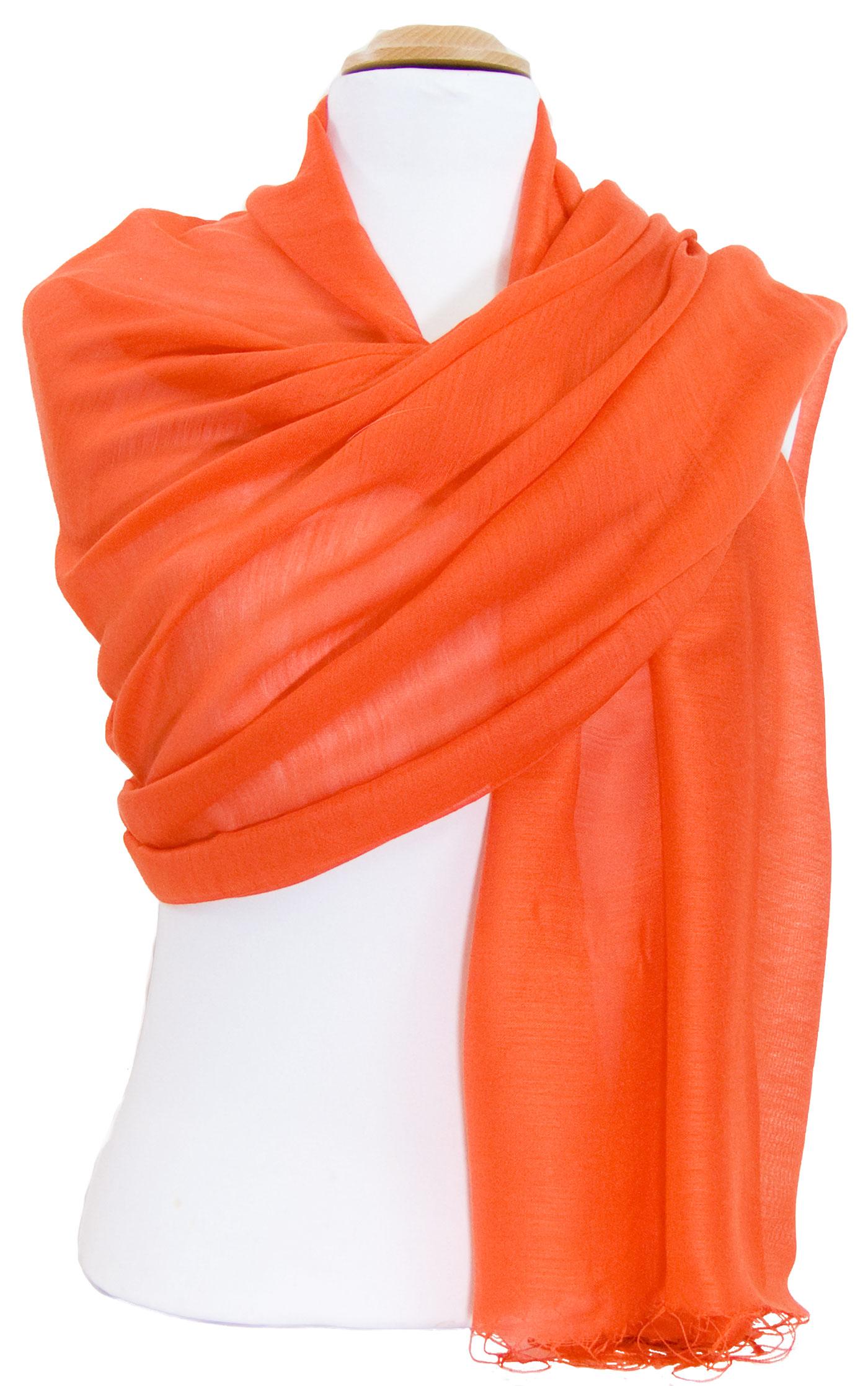 étole foulard orange soie fine Alex 2
