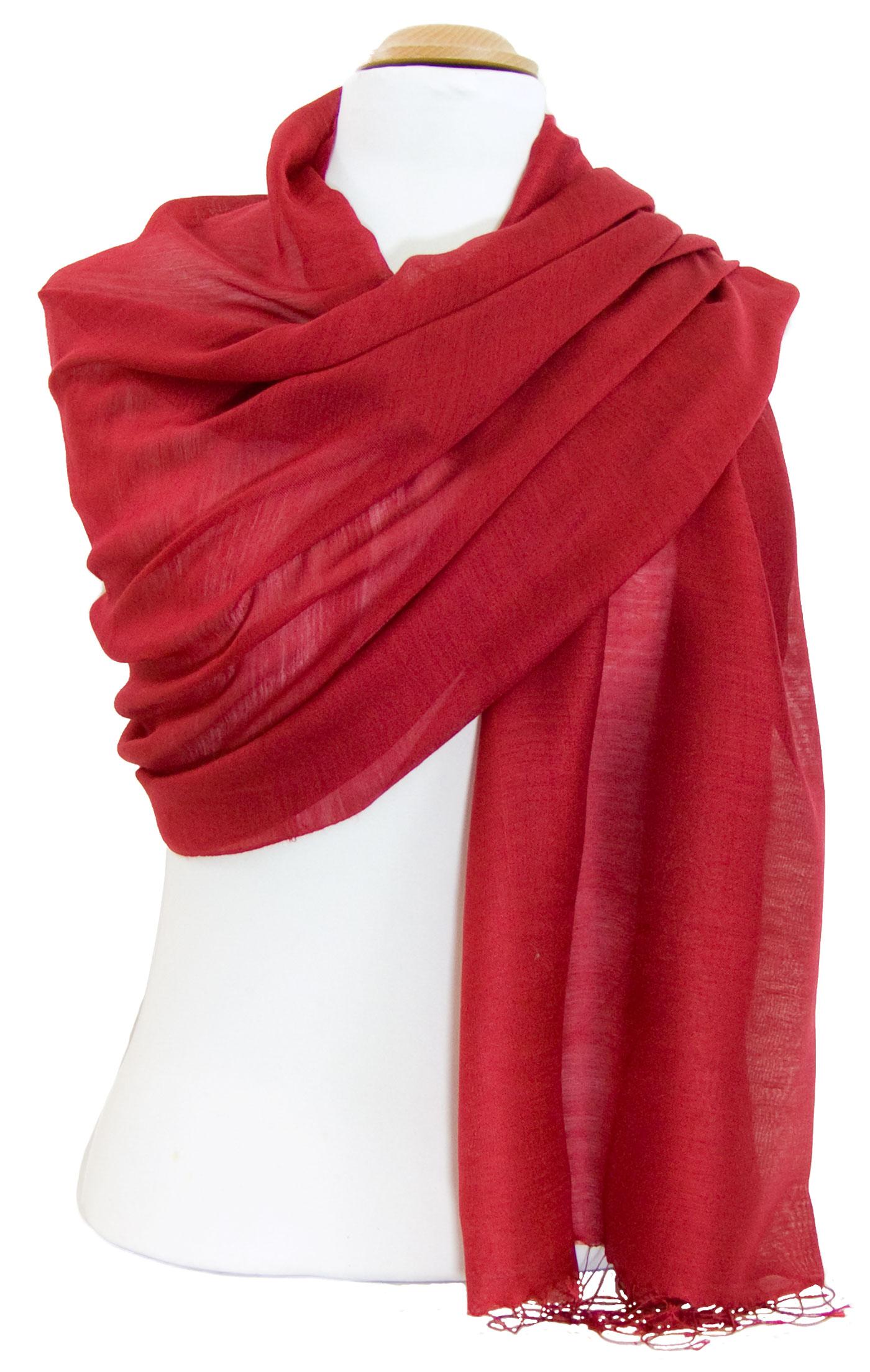 Etole foulard rouge soie viscose Alex