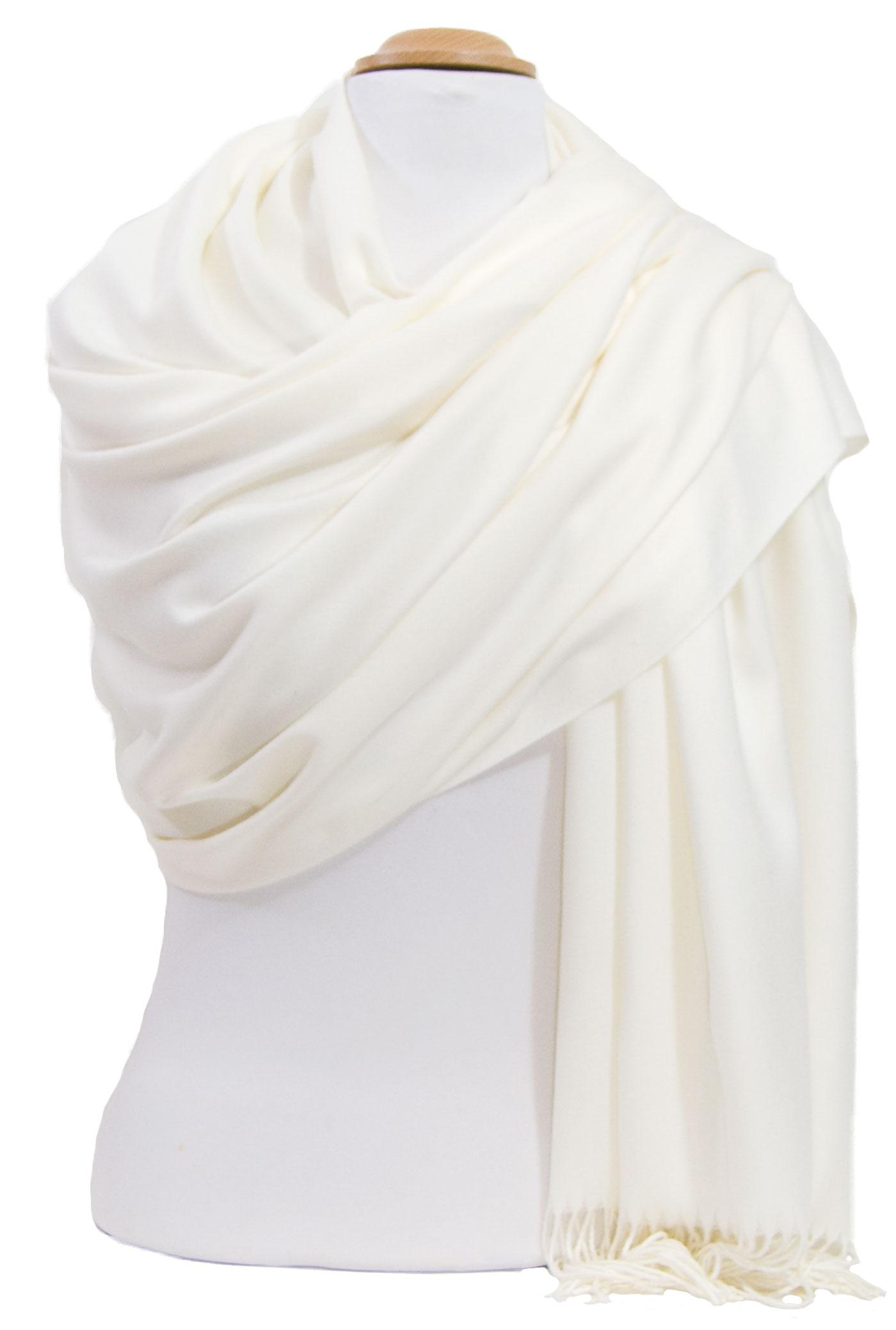 étole femme écru cachemire laine charlie 2