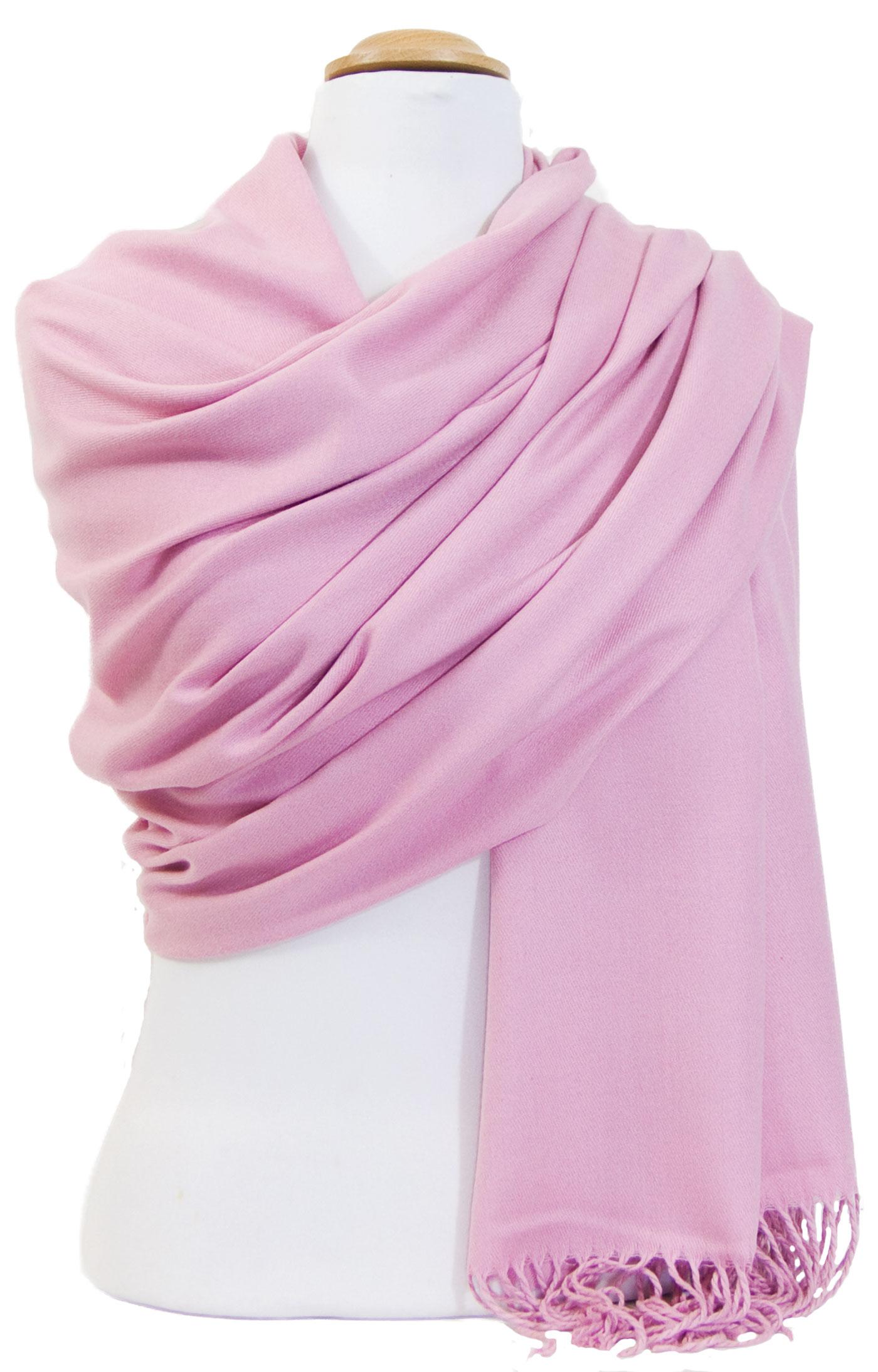 Etole cachemire laine rose Charlie