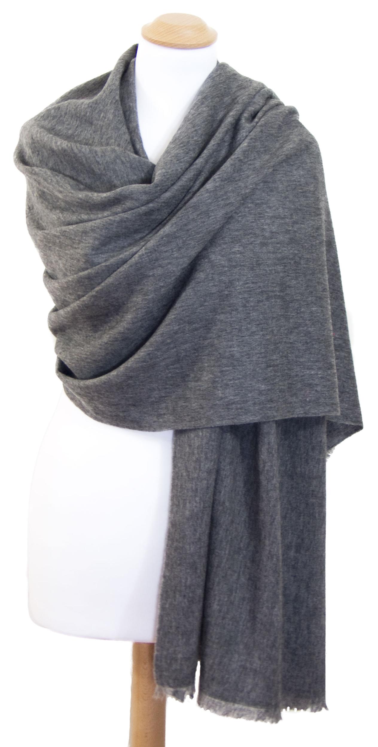 Etole gris foncé cachemire laine