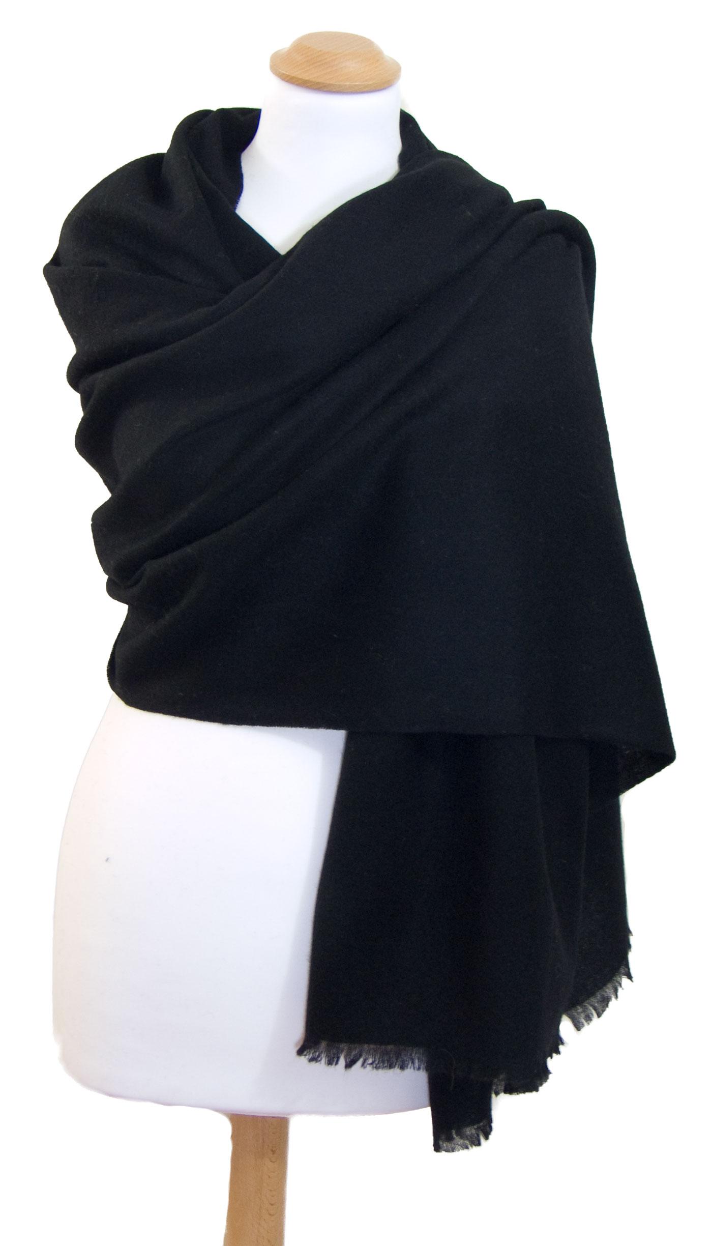 Etole noir cachemire laine