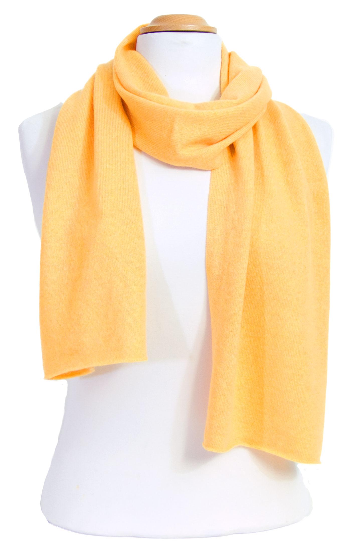 écharpe en cachemire jaune 1