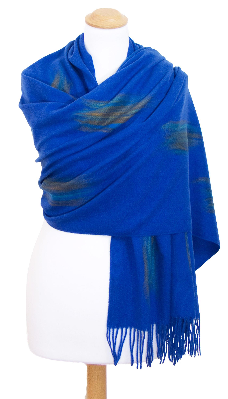 Etole bleu vif cachemire laine Plume