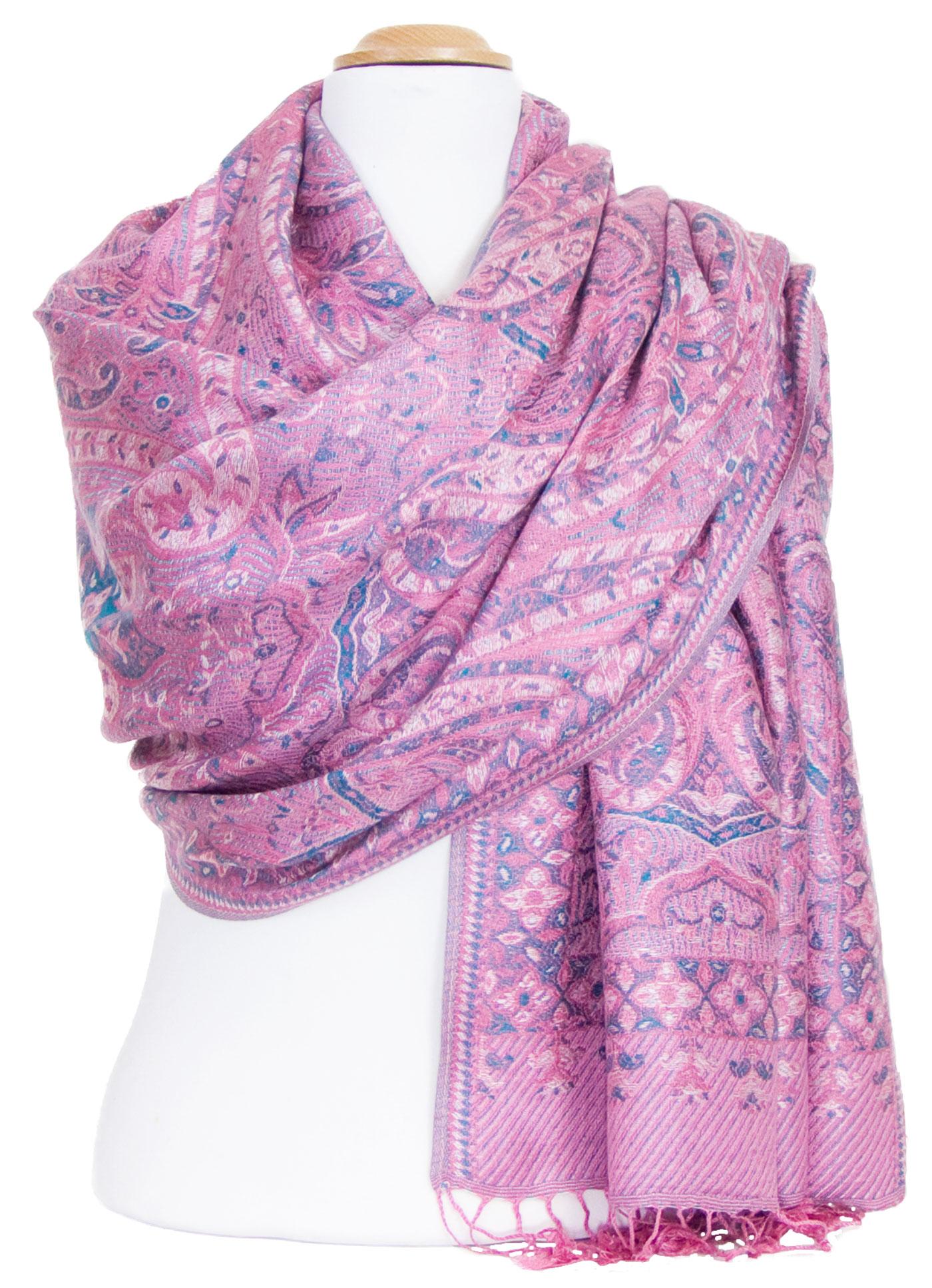 Etole pashmina rose motifs baroques