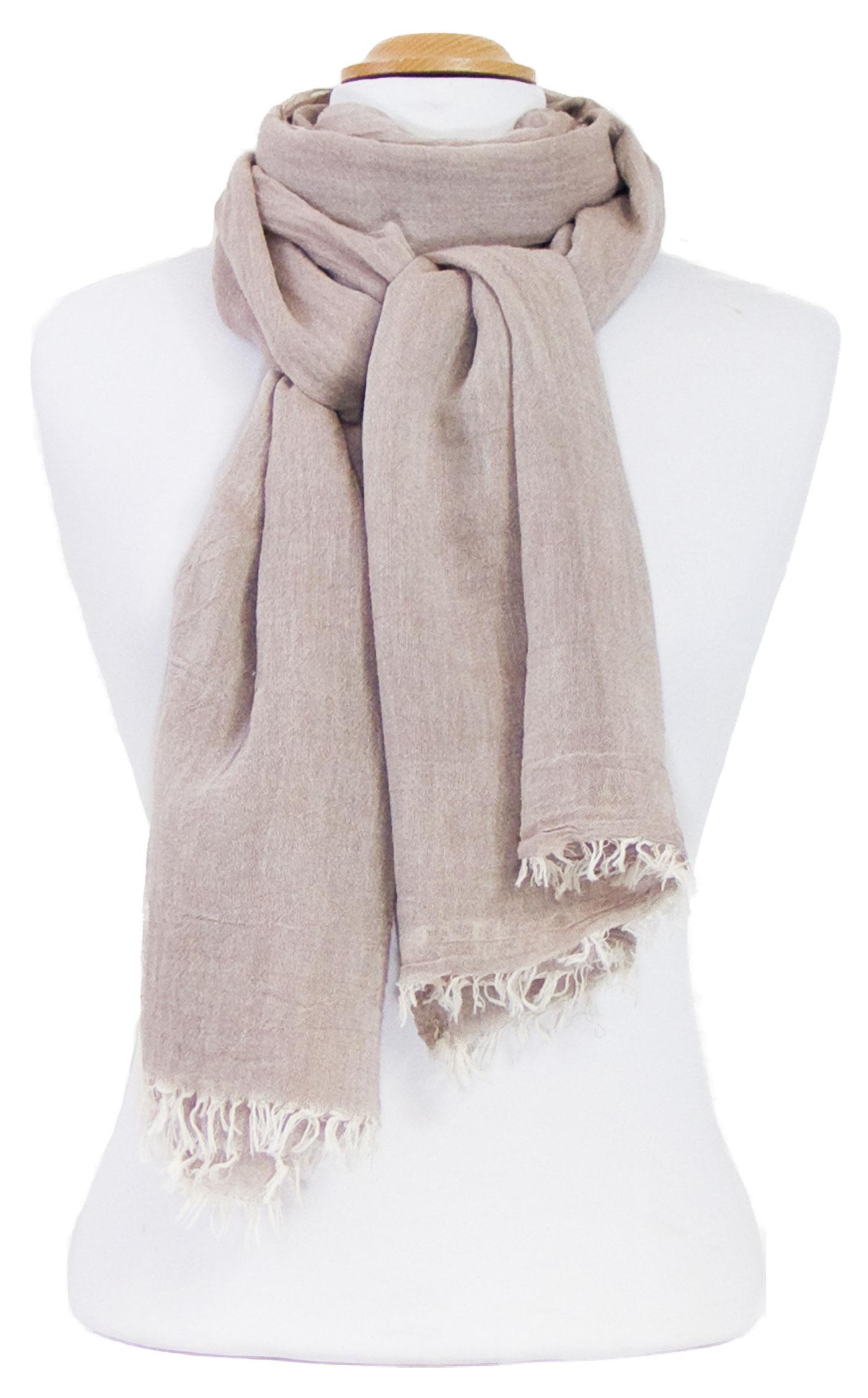 Foulard taupe coton froissé