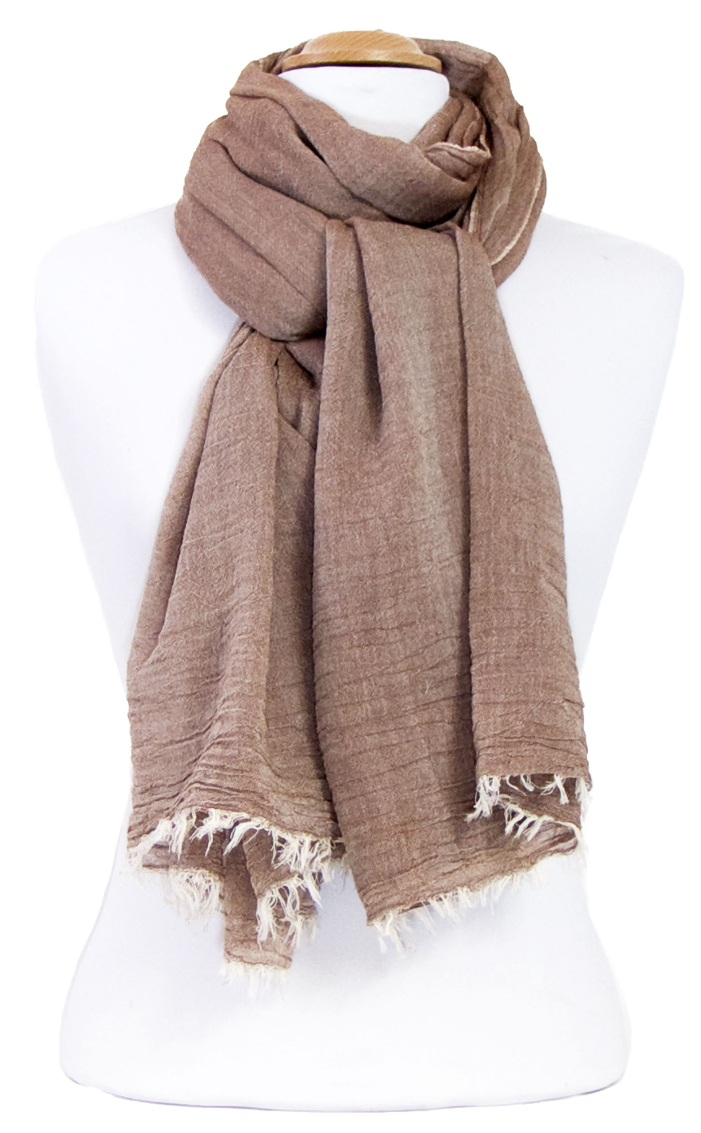 foulard chèche  beige coton femme homme