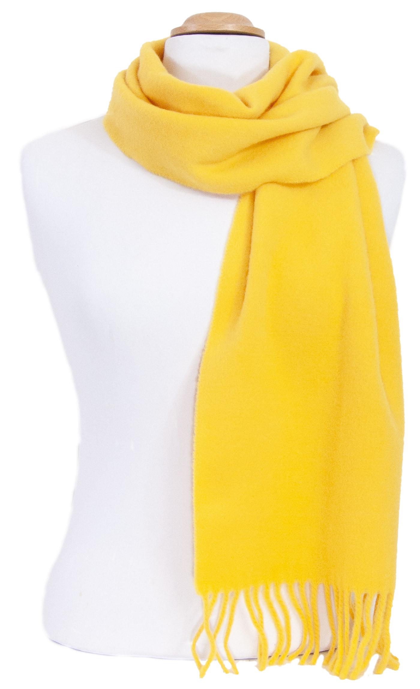 Echarpe jaune en laine lambswool