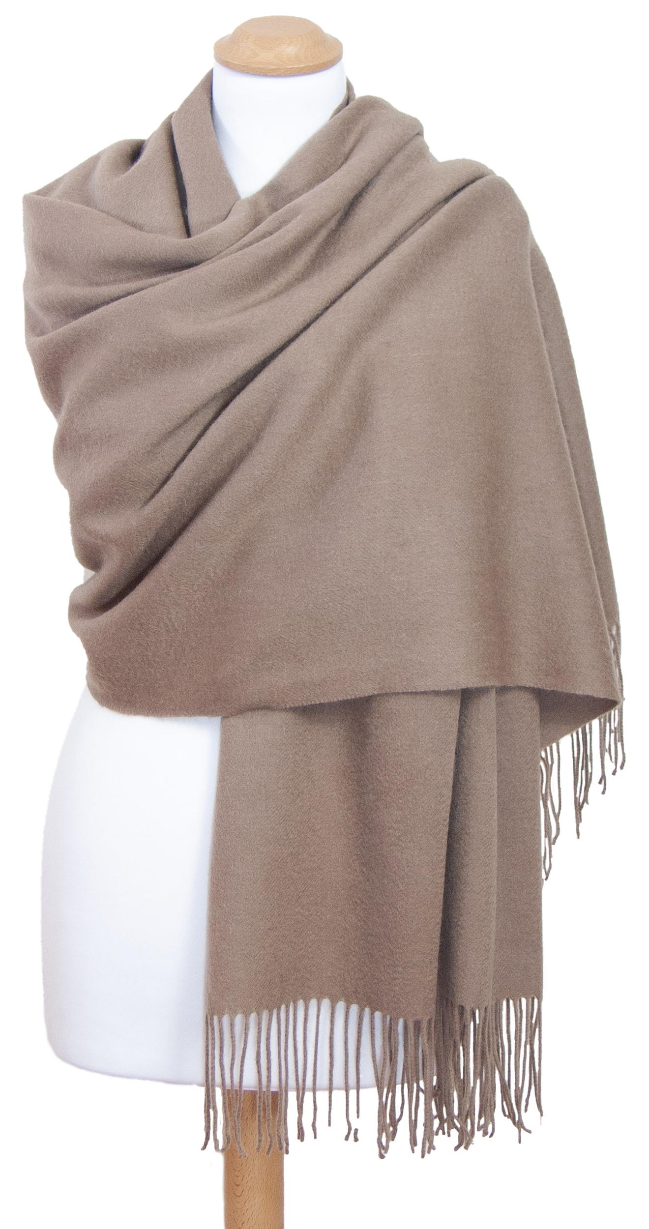 étole taupe  laine femme