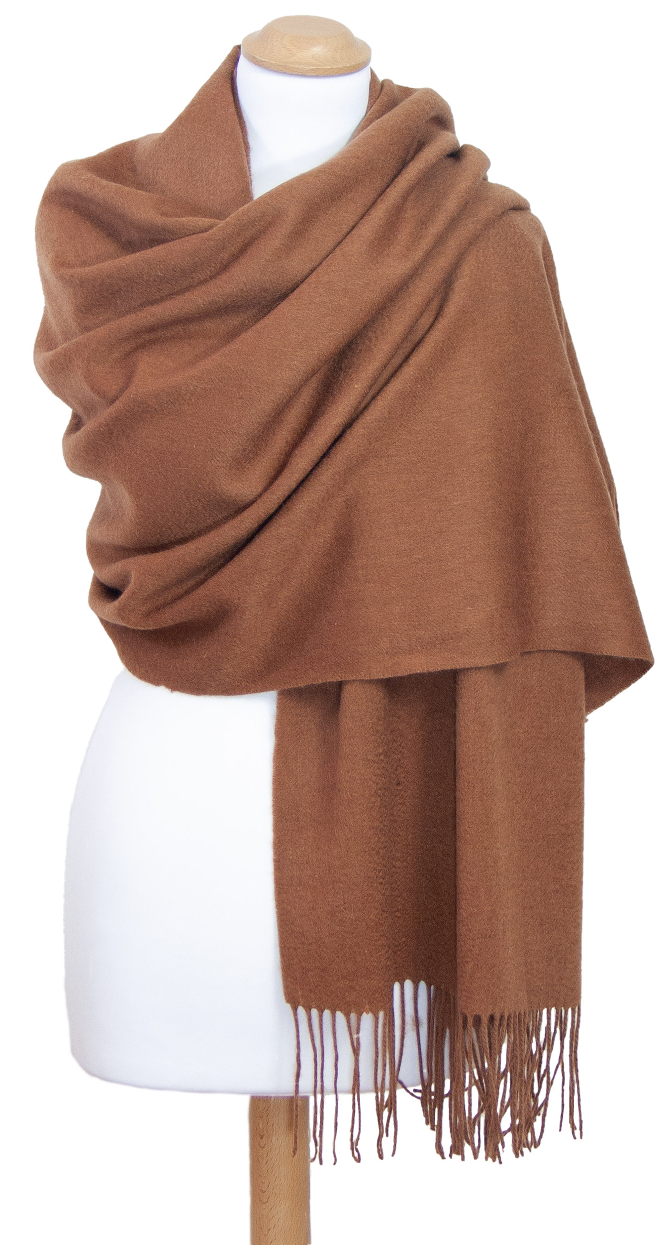 étole camel laine femme