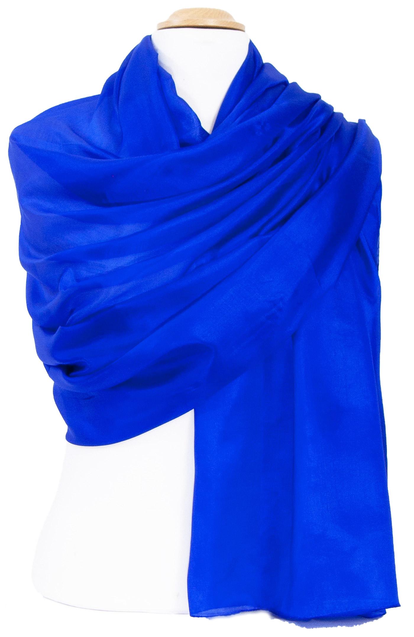 Etole en soie bleu roi premium