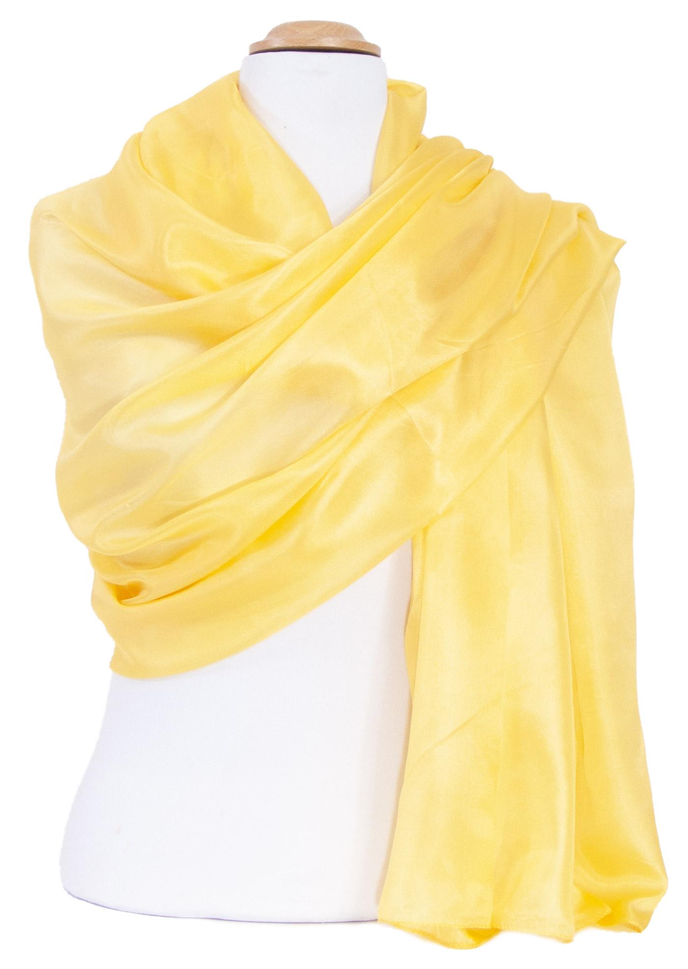 Etole en soie jaune premium