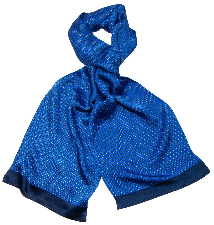 Foulard soie homme bleu roi Antoine