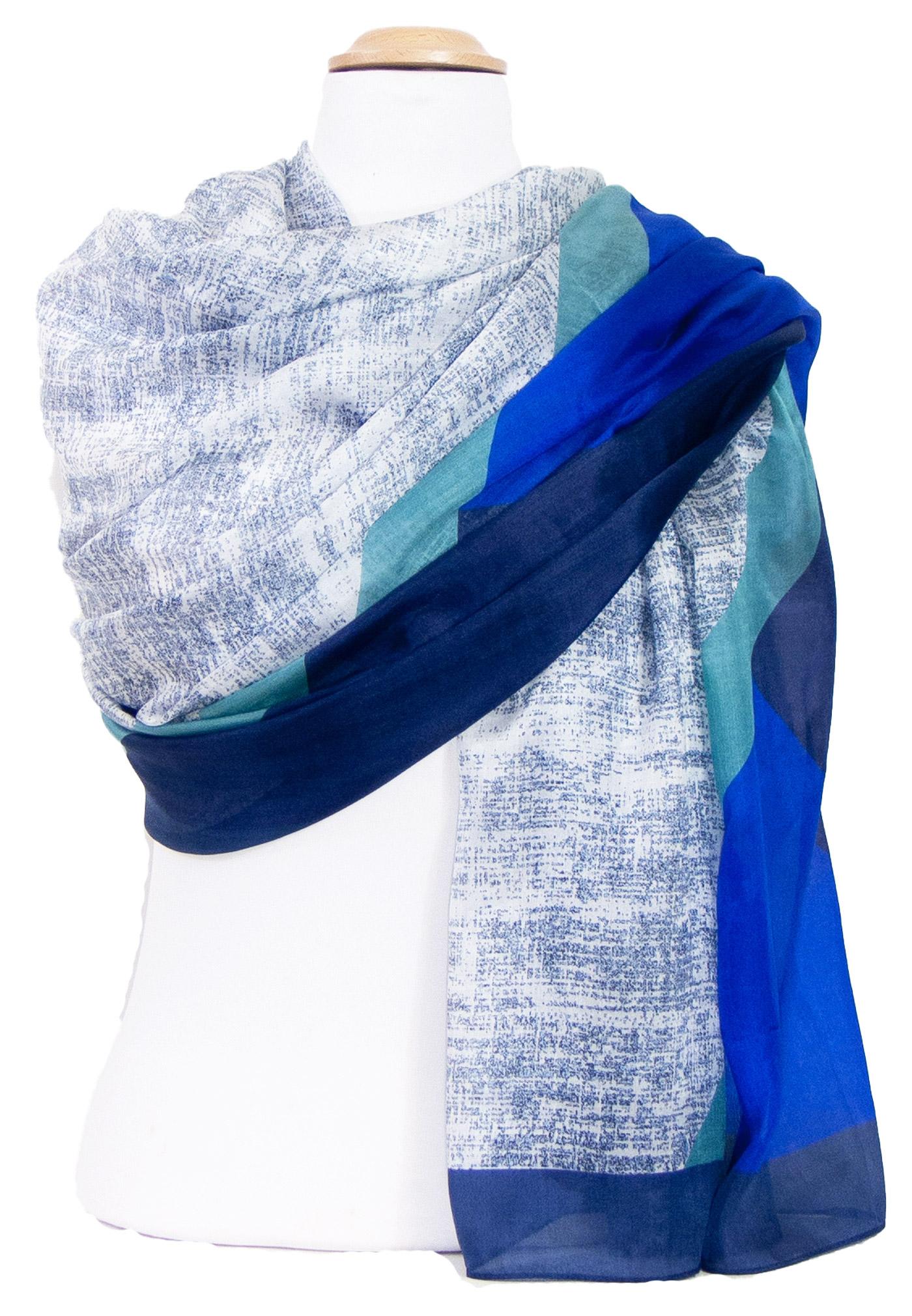 Etole en soie bleu marine Enara