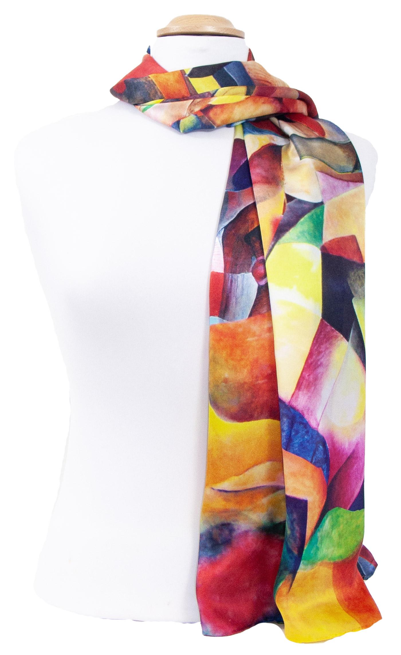 Foulard écharpe soie multicolore Allison