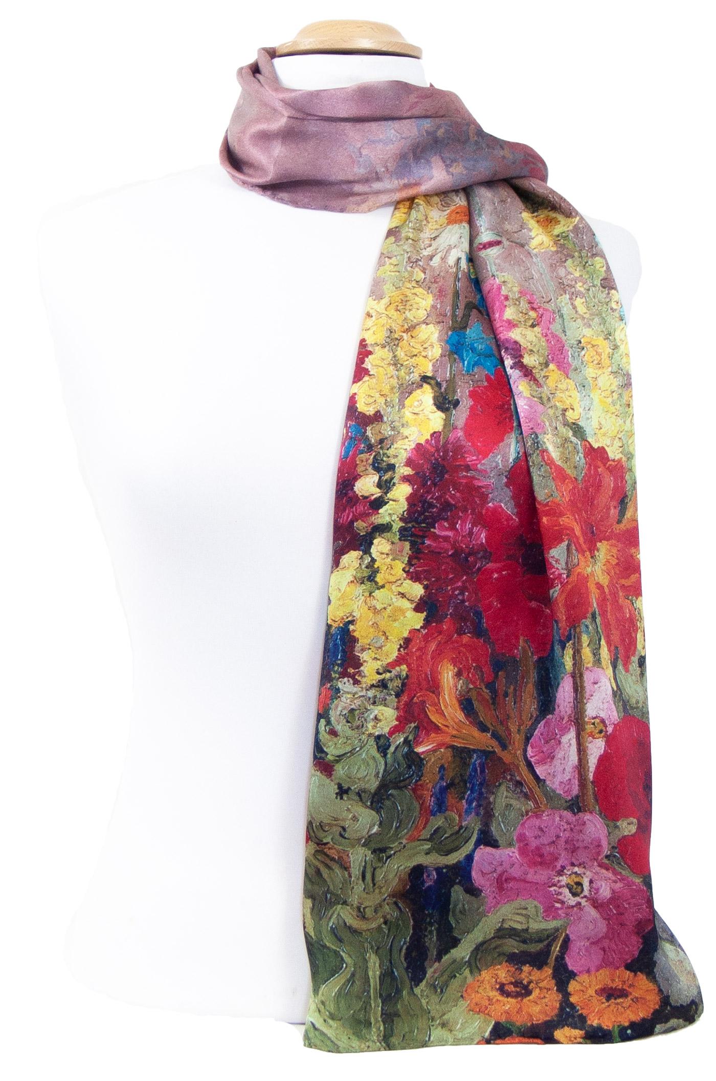 foulard écharpe soie femme rouge Lalie