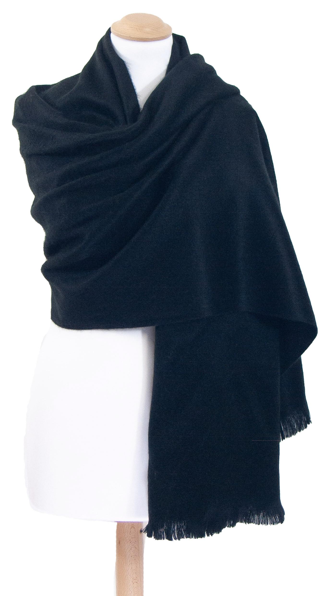 Châle en laine alpaga noir