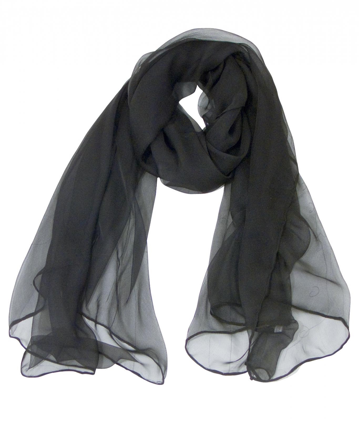Foulard ou écharpe echarpe noire et blanche femme   Zolushca a84cfbad027