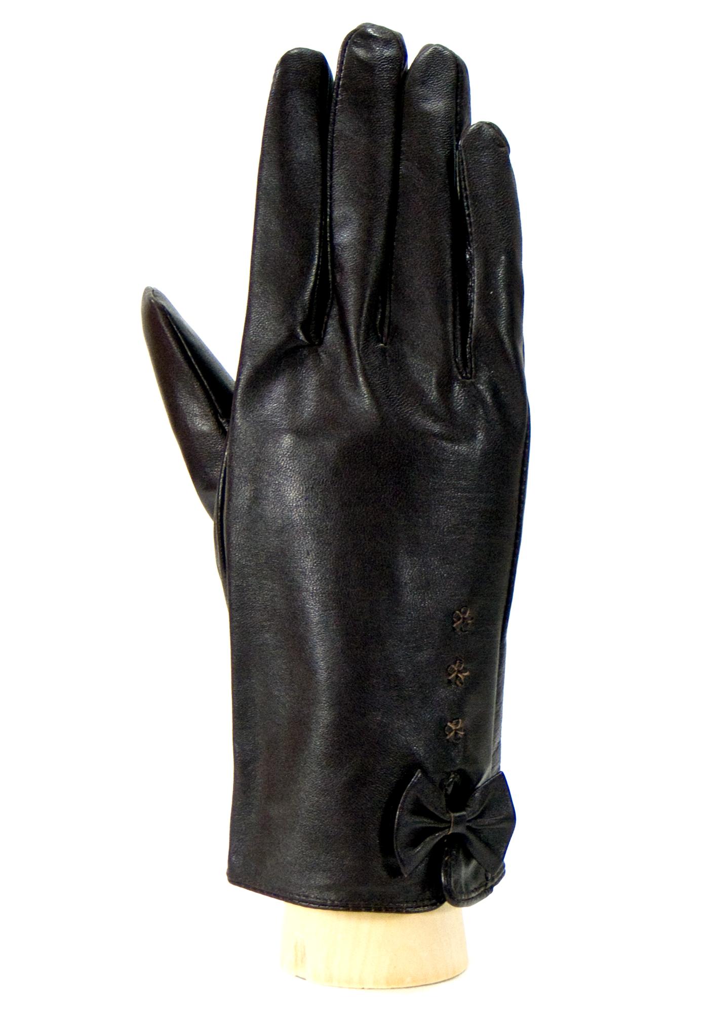 4f52ceabbc7 Gants cuir femme noir petit noeud taille 8 - Accessoires Mode Gants cuir -  Mes Echarpes