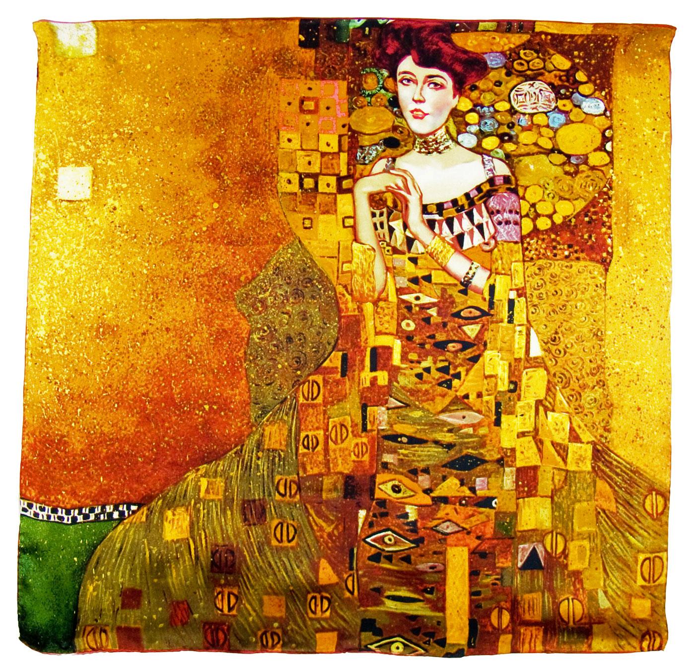 Foulard en soie carré artysilk Adèle Gustav Klimt