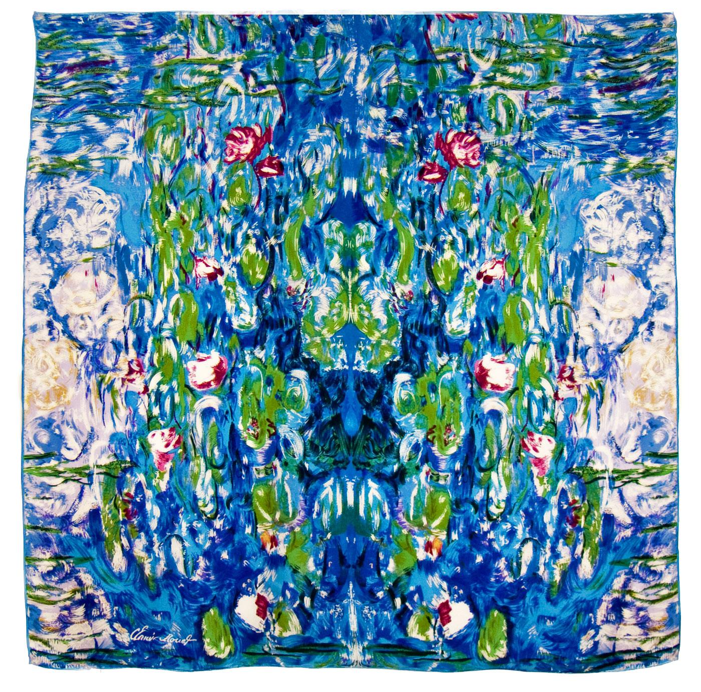 foulard en soie carre de soie les nympheas claude monet 1