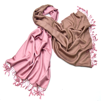 Etole pashmina rose camel réversible
