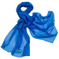 Etole bleu mousseline de soie premium