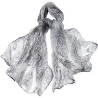 Foulard en mousseline de soie gris clair stylflo