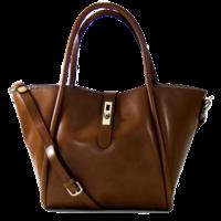 Grand sac cabas en cuir marron camel Tim et Joss