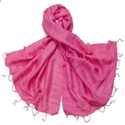 Etole rose en soie sauvage