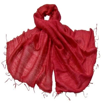 Etole rouge en soie sauvage