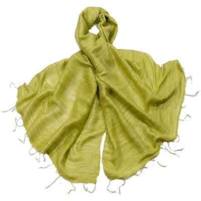 Etole vert anis en soie sauvage