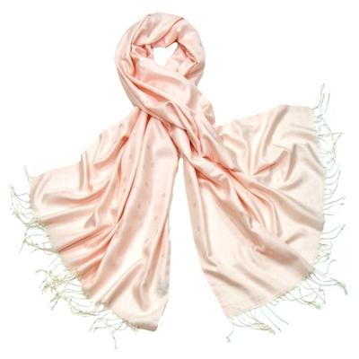 Etole foulard rose pois soie viscose