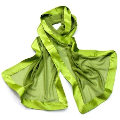 Etole vert avocat bordures anis soie satin