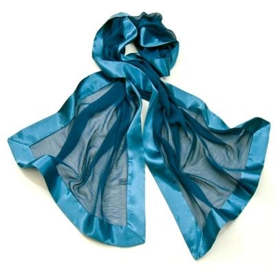 Etole bleu charron soie satin