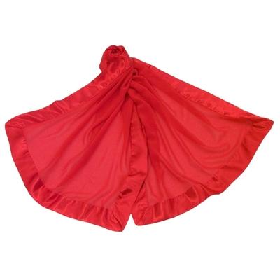 Etole rouge en soie et satin