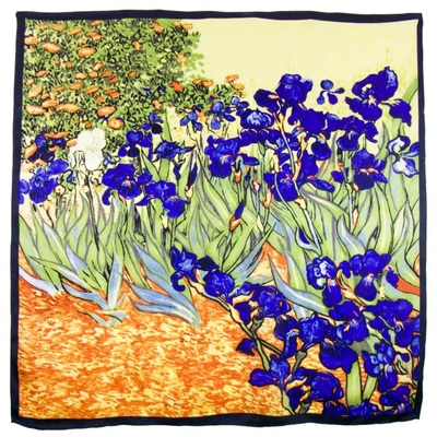 Foulard en soie carré artysilk Les iris Van Gogh