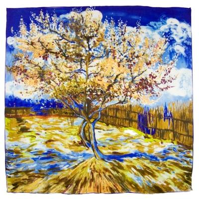 Foulard en soie carré artysilk arbre inspiration Claude Monet