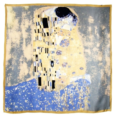 Foulard en soie carré artysilk Le baiser Gustav Klimt