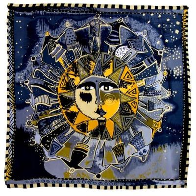 Foulard en soie satin gris soleil premium 90 x 90 cm