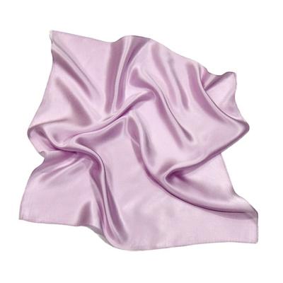 Foulard en soie parme carré mini 50 x 50 cm premium