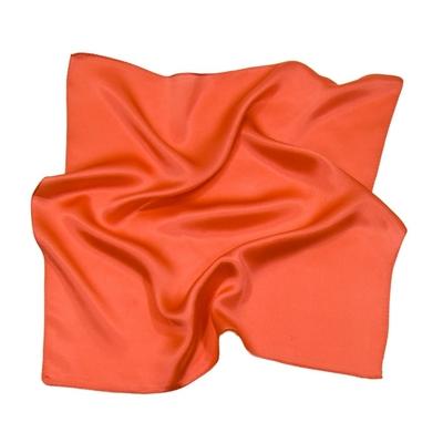 Foulard en soie corail clair carré mini 50 x 50 cm premium