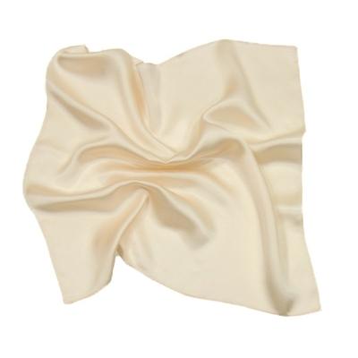 Foulard en soie écru carré mini 50 x 50 cm premium