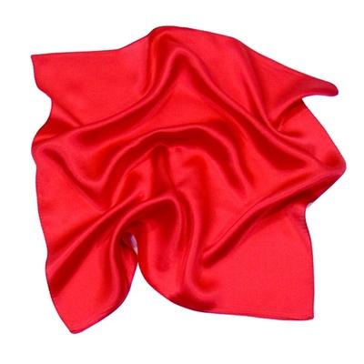 Foulard en soie rouge carré mini 50 x 50 cm premium